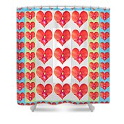 Deeply In Love Cherryhill Flower Petal Based Sweet Heart Pattern Colormania Graphics Shower Curtain