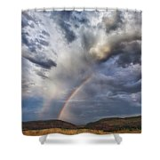Deer Creek Storm Shower Curtain