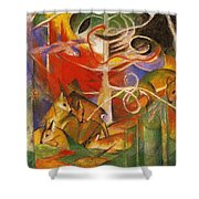 Deer In The Forest 1913 Shower Curtain
