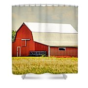 Deer Park Barn Shower Curtain by Cricket Hackmann