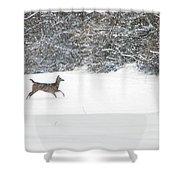 Deer Running Shower Curtain