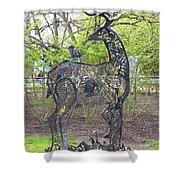 Deer Sculpture Shower Curtain