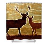 Deers Lookout Shower Curtain