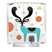 Deery Mountain Shower Curtain