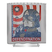 Defend The Nation Shower Curtain