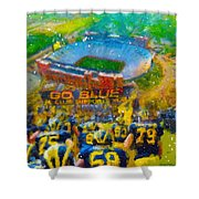 Defending The Big House Shower Curtain