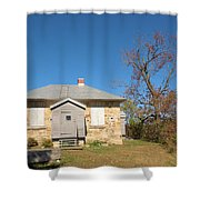 Defensible Lockmaster House Shower Curtain