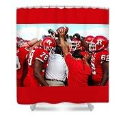 Defensive Huddle Shower Curtain