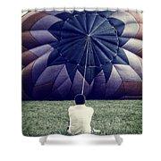 Deflated Shower Curtain