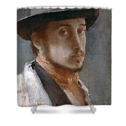 Degas Self-portrait Shower Curtain