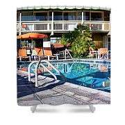 Del Marcos Pool Palm Springs Shower Curtain