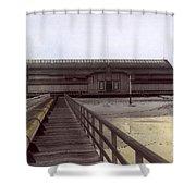 Del Monte Bathhouse From Pier California  Circa 1890 Shower Curtain