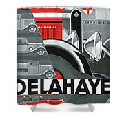 Delahaye Cars - Vintage Poster Shower Curtain