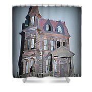 Delapitated Victorian Mansion Shower Curtain