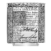 Delaware Banknote, 1776 Shower Curtain