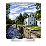 Delaware Canal Kingston New Jersey Shower Curtain