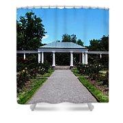 Delaware Park Rose Garden And Pergola Buffalo Ny Oil Painting Effect Shower Curtain