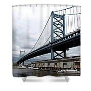 Delaware River Bridge - Philadelphia Shower Curtain