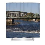 Delaware River Easton Pennsylvania Shower Curtain