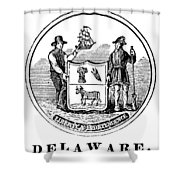 Delaware State Seal Shower Curtain