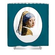 Delft Blue Flip Side Shower Curtain