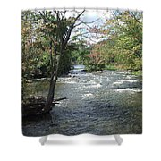 Delhi Rapids From The Bridge Shower Curtain