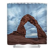 Delicate Arch Blue Hour Shower Curtain