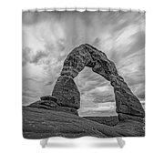 Delicate Arch Bw Shower Curtain