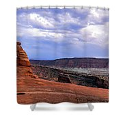 Delicate Arch Located In Arches Shower Curtain