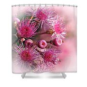 Delicate Buds And Blossoms Shower Curtain