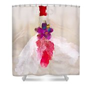 Delicate Dance - Impressionistic Dancer Shower Curtain