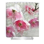 Delicate Tree Peonies Branching Out Shower Curtain
