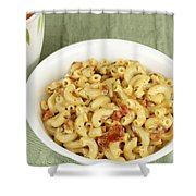 Delicious Macaroni Lunch Shower Curtain