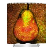 Delicious Pear Abstract Expressionism Shower Curtain