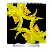 Delightful Daffodil Abstract Shower Curtain