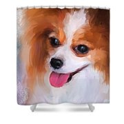 Delightful Papillon Shower Curtain
