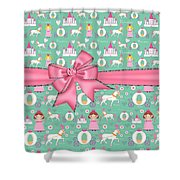Delightful Princessess Shower Curtain by Debra  Miller