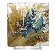 Deliver Shower Curtain by Karina Llergo