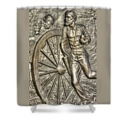 Delivering The Charge - Detail-b 1st New York Light Artillery - Fitzhughs Battery K Gettysburg Shower Curtain