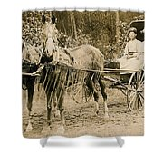 Delivering The Mail 1907 Shower Curtain
