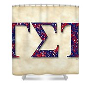 Delphic Of Gamma Sigma Tau - Parchment Shower Curtain