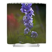 Delphinium Blossom Shower Curtain