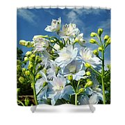 Delphinium Sky Original Shower Curtain