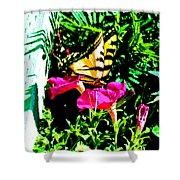 Delta Butterfly Dazes Shower Curtain