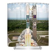 Delta II Launch With Space Telescope Shower Curtain