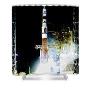 Delta Iv Rocket Shower Curtain