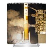 Delta Iv Rocket Taking Off Shower Curtain