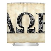 Delta Omega Epsilon - Parchment Shower Curtain