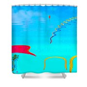 Hang-glider - Deltaplane - Island Reunion-indian Ocean Shower Curtain by Francoise Leandre