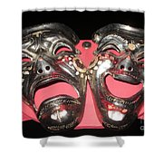 Masques / Tragedy/comedy Masks Shower Curtain
